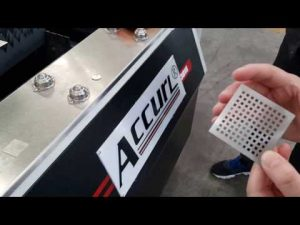 máquina de corte do laser da fibra do accurl 700w ipg para o corte do laser do cnc da folha de metal