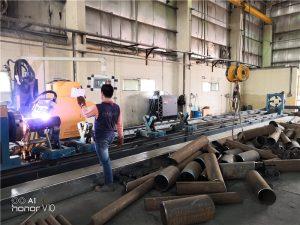 máquina de corte de aço para o corte da tubulação do metal do corte do laser da fibra