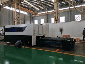 Máquina de corte Multifunction do laser da folha e da tubulação do metal do cortador da fibra do CNC 500W