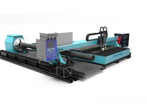 Máquina de corte do laser da fibra do cnc do tubo do metal com eficiência elevada feita na porcelana