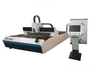 Aço carbono de 300w 500w 750w / máquina de corte inoxidável do laser da fibra do cnc da folha de metal para venda