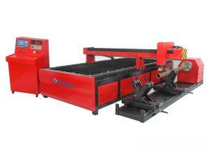 máquina de corte quadrada do tubo do plasma do cnc da maquinaria do metal, cortador de tubulação do cnc