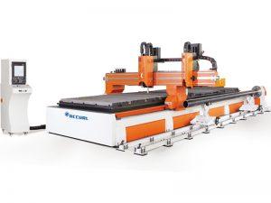 perfilamento da tubulação do cnc e máquina de corte da placa 3 linha central